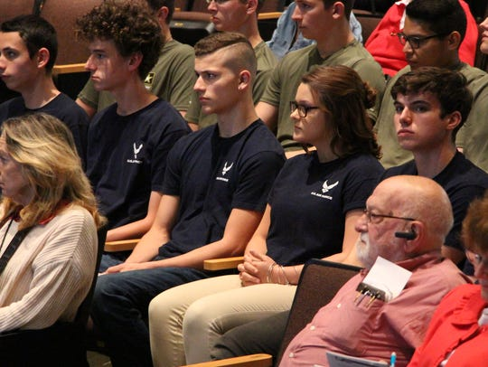 Graduating seniors entering the military were honored