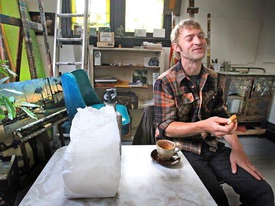 Harrison Art Center artist Josh Rush.
