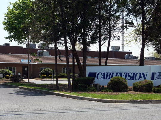"""Cablevision unveiled what it's calling a """"cord cutter"""" package."""" While it's not a video service, it comes with a free digital antenna to receive over-the-air channels and high-speed Internet access for streaming video. Cablelvision's Wall office is seen in this file photo."""