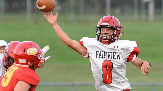 Travis Burge, right, will return as a key player in Fairview's offense.