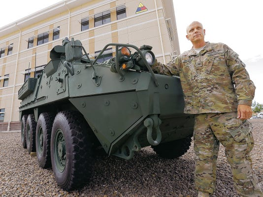 MARK LAMBIE—EL PASO TIMES  Col. Ross Coffman is the commander of the 1st Brigade Combat Team, 1st Armored Division. He will relinquish command on Wednesday and become chief of staff for the 1st Armored Division.