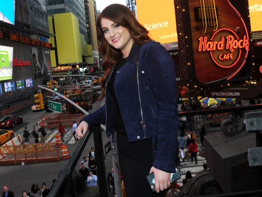 AP MEGHAN TRAINOR VIDEO RELEASE AT HARD ROCK CAFE NEW YORK A ENT CPAENT USA NY
