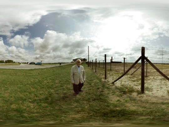 "This image released by the Tribeca Film Festival shows a scene from the VR film, ""The Last Goodbye,"" being shown at the Tribeca Film Festival in New York. A number of high-profile projects unveiled at the Tribeca Film Festival show the young medium pushing forward to unlock VR's power to create empathy, whether it's a Holocaust survivor or a crow voiced by John Legend."