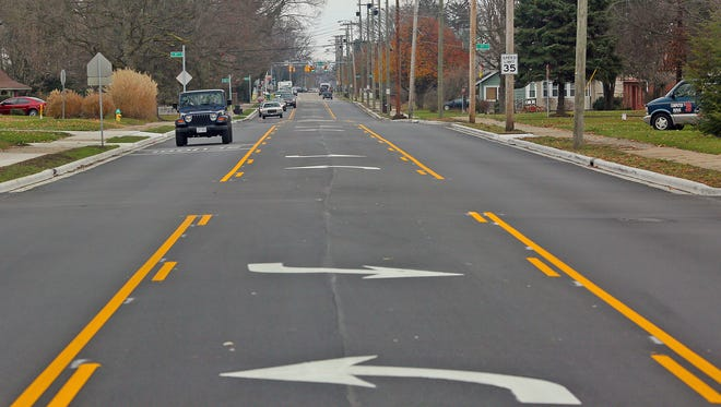 West Main Street paving and turn lane between 24th and 34th streets.