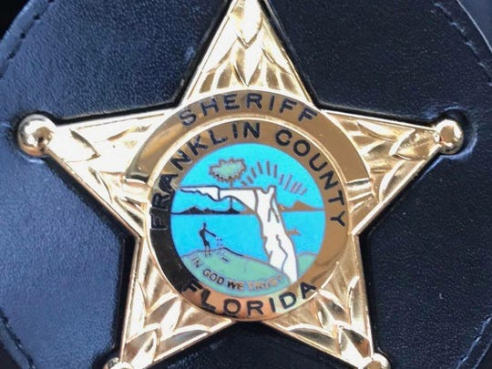 A Franklin County Sheriff's Office badge.