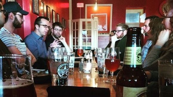 Millennials gather for beers and spiritual conversation