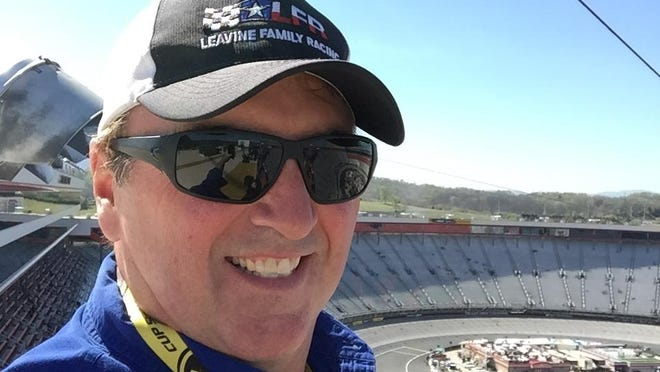 Hendersonville's Steve Barkdoll takes a selfie at Bristol Motor Speedway a few years back during his time spotting for the Leavine Family Racing Team.