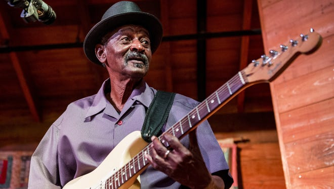 """Paul """"Lil Buck"""" Sinegal, along with Major Handy and Lee Allen Zeno, open the new Blues on the Green series Thursday."""