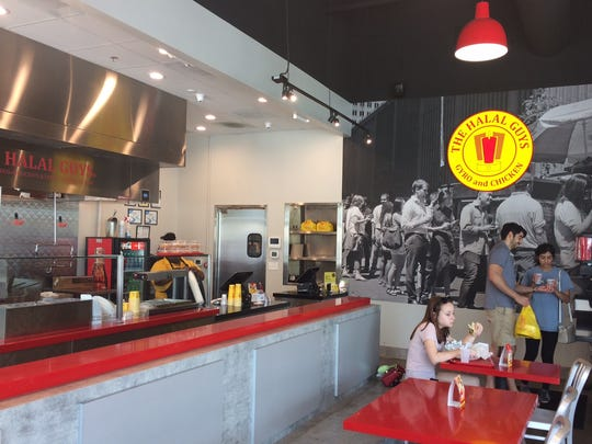 Interior of The Halal Guys at One Bellevue Place.
