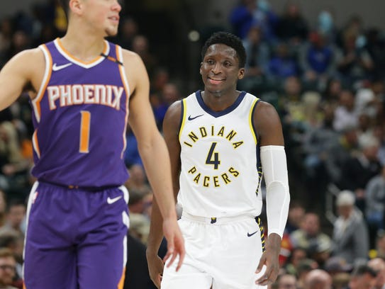 Victor Oladipo's shooting has cooled off since his
