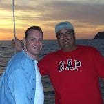 """Aaron Bell, 45, and Sid Cuecha, 48, who have been together now for 18 years, each dreamed of being fathers. """"What we both wanted more than anything was a family,"""" Bell says."""