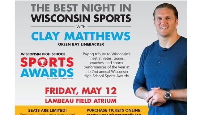 Wisconsin High School Sports Awards with Clay Matthews