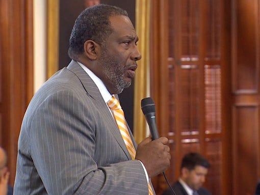 State Sen. Royce West (D-Dallas) addresses his colleagues.