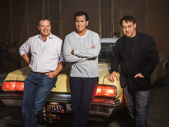 Rob Tapert (left), Bruce Campbell and Sam Raimi, the