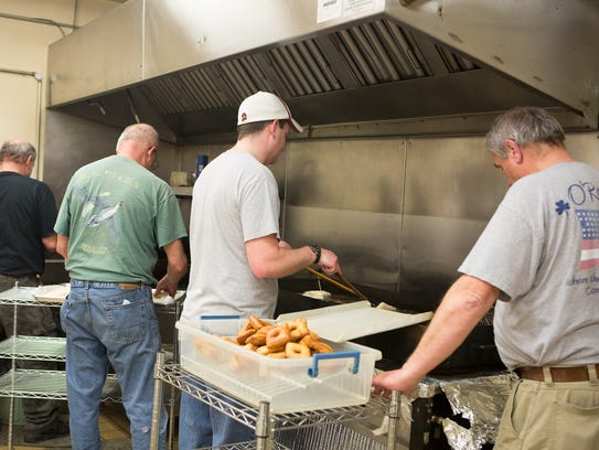 Fastnachts are fried at St. James Lutheran Church.