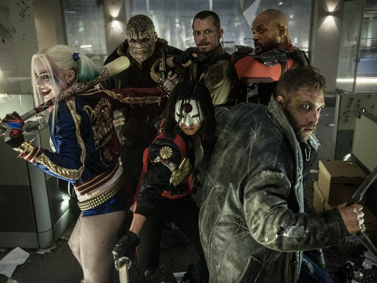 The cast of Harley Quinn (Margot Robbie, from left),