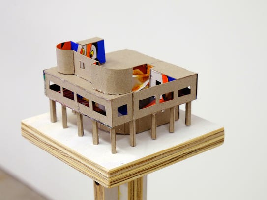 """Detail of """"Dream House (Le Corbusier)"""" by Alexander"""