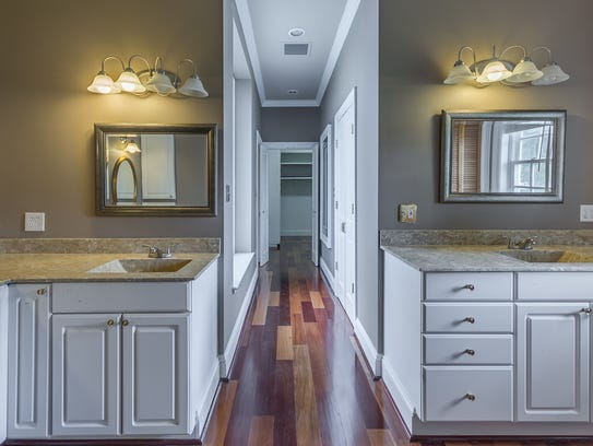 The gorgeous master bath includes huge closets and