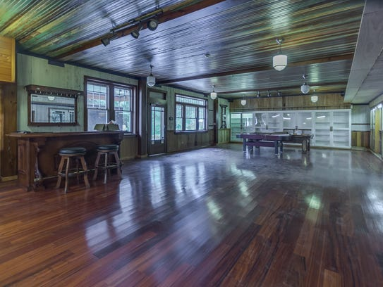 The huge game room has enough space for any activity.