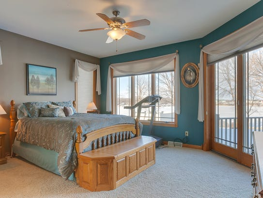 The master suite at 22246 Great Northern Drive, Cold