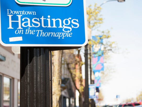 Hastings markets its proximity to the Thornapple River