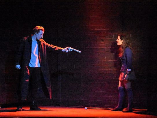 Nathan Sheppard and Alyssa Gonzalez in Greasepaint