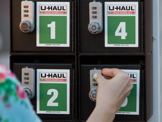 Customers pick up and return keys using a secure lockbox.