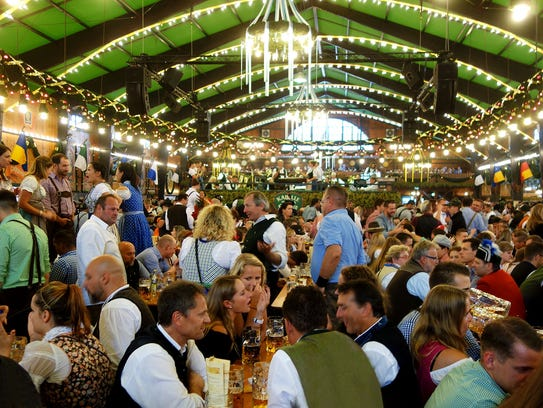 Oktoberfest's tents are packed, and together can seat