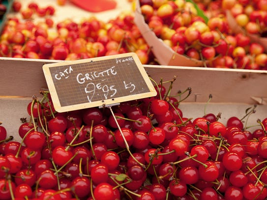Look for luscious cherries in late spring, if you're