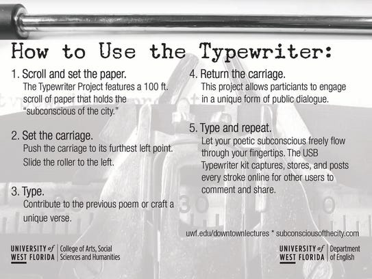 """""""The Typewriter Project: Poetry and Public Art"""" will"""