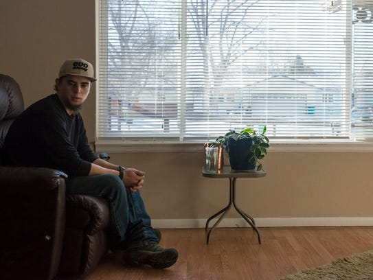 Evan Schockley lived in an old and cold RV for three years before being chosen for Neighbor to Neighbor's shared-housing program on Tuesday, Jan. 16, 2017. Shockley is among nine formerly homeless residents chosen to live in three homes throughout Fort Collins.