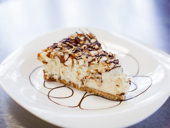 This Coconut-Almond Cheesecake would be great for a romantic Valentine's Day dinner, or anytime at all.