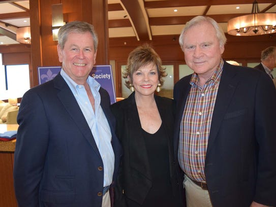 Richard Dakers with Cindy and Ken Johns.