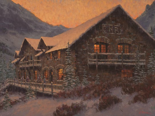 """Charles Fritz's """"Early Snow at Sperry Chalet"""" is one"""