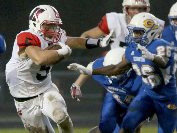 Homestead's Bradley Woldt did a little bit of everything,