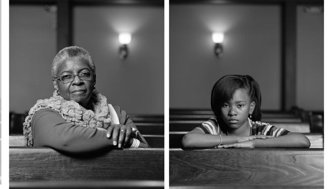 """Mary Parker and Caela Cowan -- one of the pairings of photographs in """"The Birmingham Project"""" exhibit at George Eastman House."""