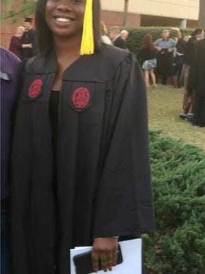 Shown is Mahalia Elizabeth Thomas of Anderson, who has graduated from the University of South Carolina, Columbia. Congratulations from your family and friends.