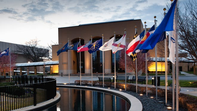 Bob Jones University recently achieved a long-sought goal: regional accreditation. Pictured is the fountain in front of BJU's Rodeheaver Auditorium.
