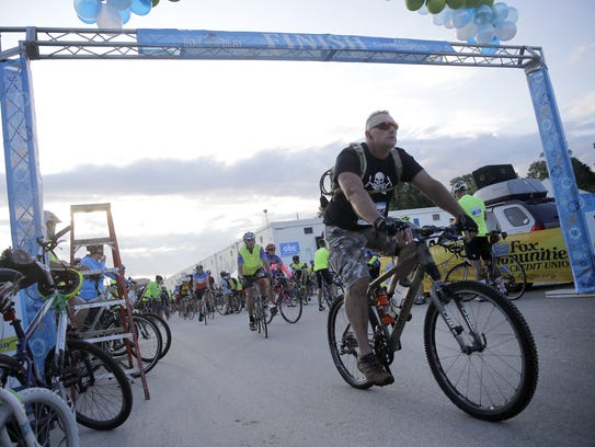 The 50-mile ride at Bike to the Beat begins during