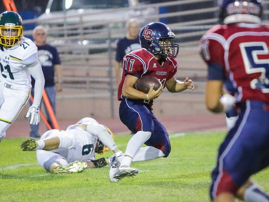 The La Quinta varsity football team won Friday's home