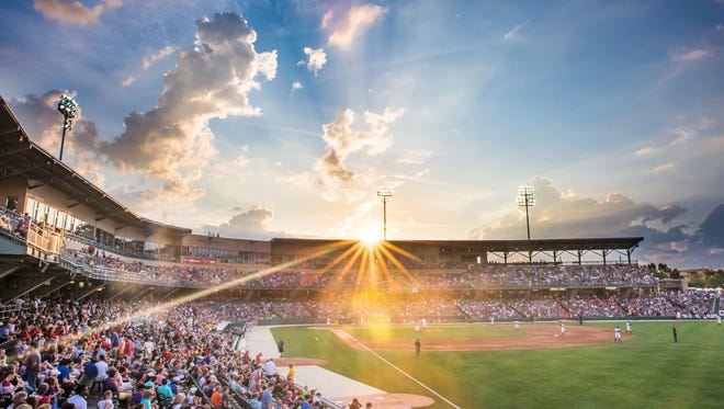 This sunset photo of Victory Field was voted Photo of the Year by Minor League Baseball fans across the country.