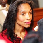 Judge Tracie Hunter at her criminal trial last year.