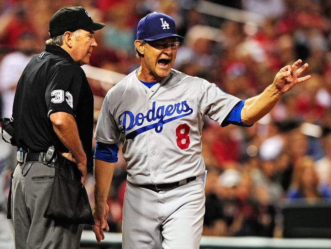 May 29: Umpire Mike Winters tossed Dodgers manager