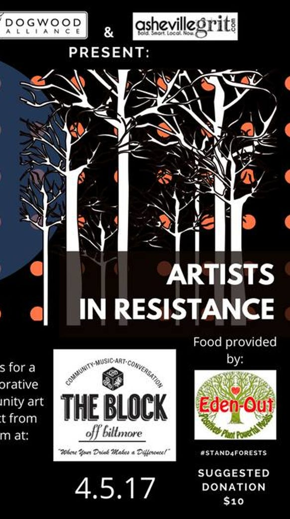 The Dogwood Alliance and Asheville Grit host the Artists