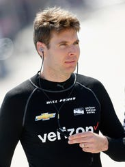 Will Power prepares to practice for the Verizon IndyCar