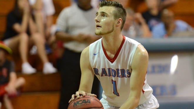Rockledge's Robbie Hicks shoots free throw during Thursday's district semifinal.