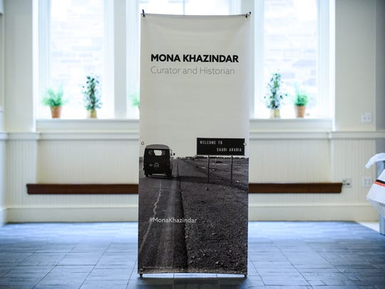"The banner for Mona Khazindar's ""Visions From Abroad"""