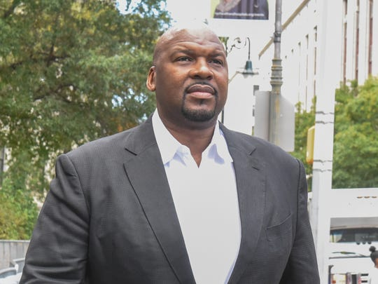Chuck Person exits the Federal Courthouse in Manhattan on Oct. 20, 2017.