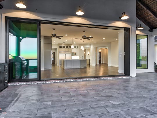 Floor-to-ceiling windows enable homeowners to enjoy