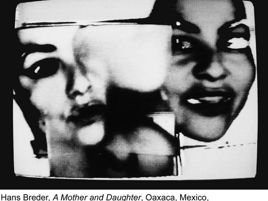 This image shows a still from Hans Breder's 1981 video,